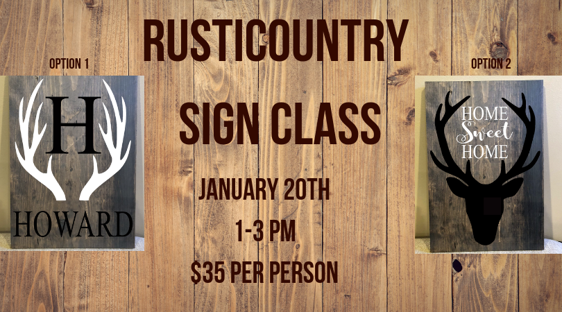 RustiCountry Wooden Sign Class-SOLD OUT