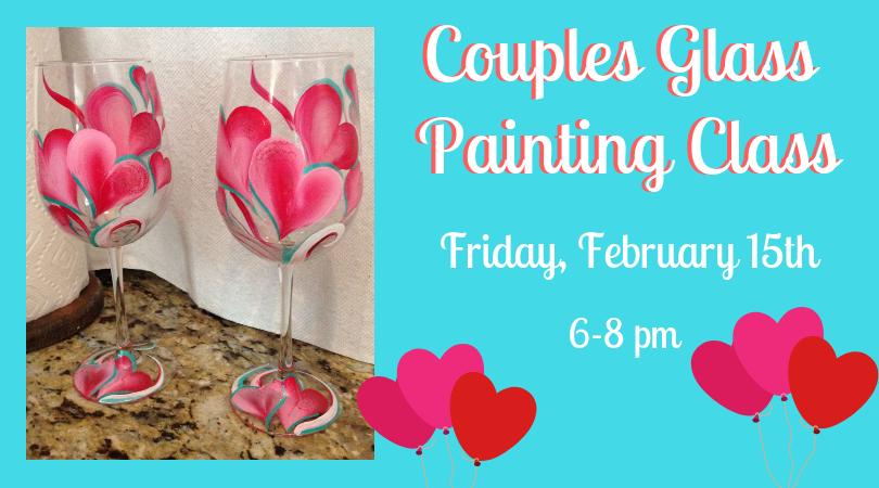 Valentines Wine Glass Painting