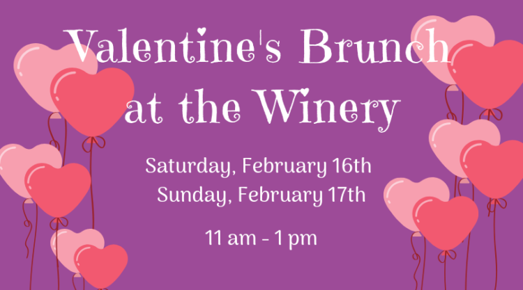 Valentines Brunch at the Winery