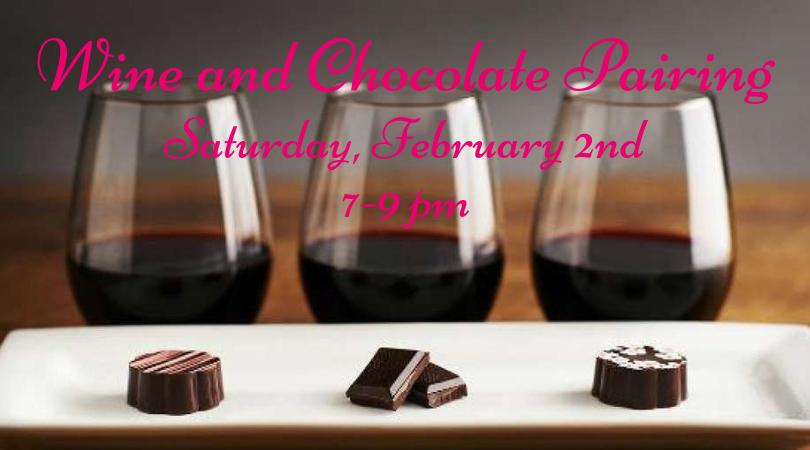 Valentine's Wine and Chocolate Pairing