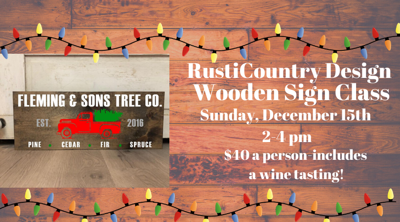 RustiCountry Winter Wooden Sign Class