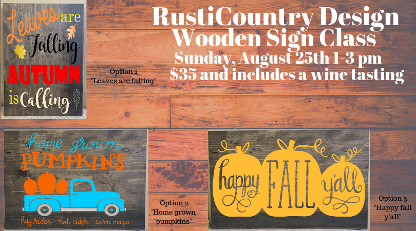 RustiCountry Sign Class