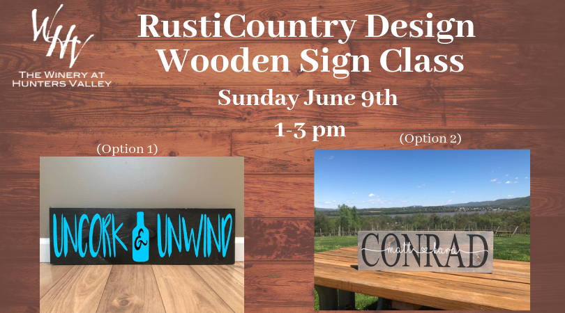 RustiCountry Wooden Sign Class