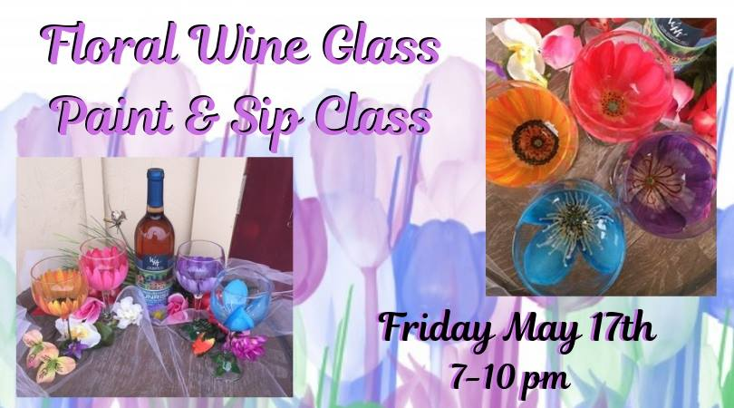 Floral Wine Glass Paint & Sip- SOLD OUT!