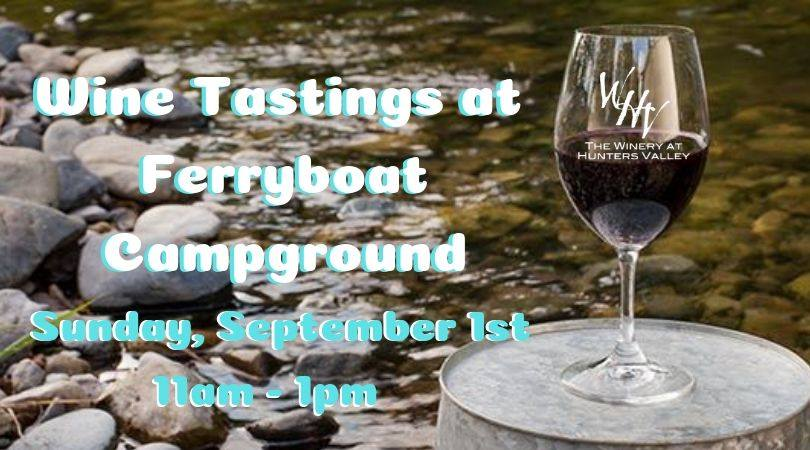 Tasting at Ferry Boat Campground