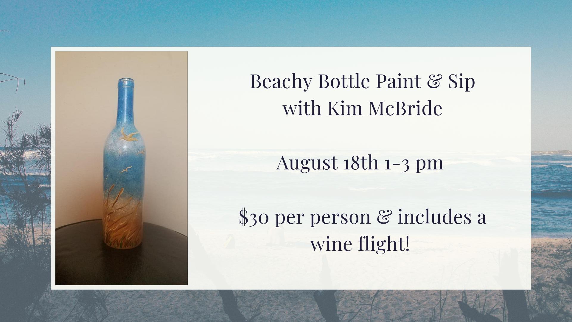 Beachy Bottle Paint & Sip with Kim McBride