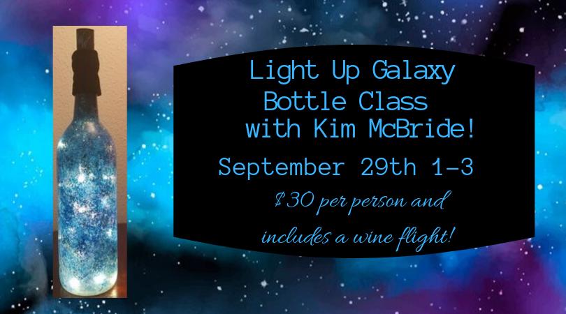Light Up Galaxy Bottle Class w/ Kim McBride