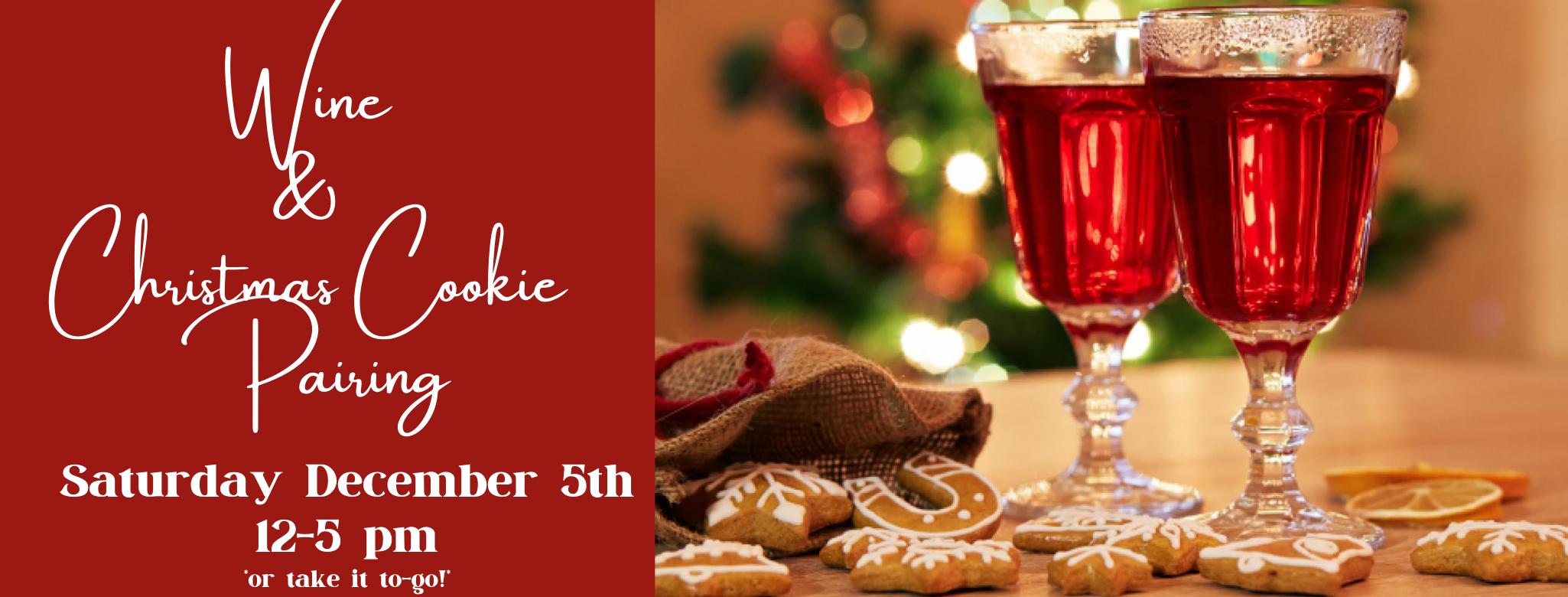 Wine & Christmas Cookie Pairing