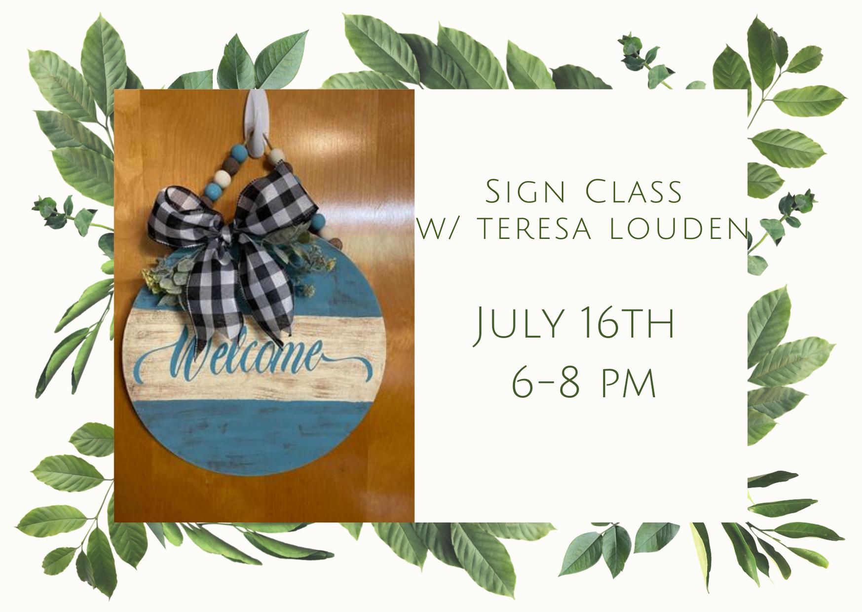 Sign Class w/ Teresa Louden